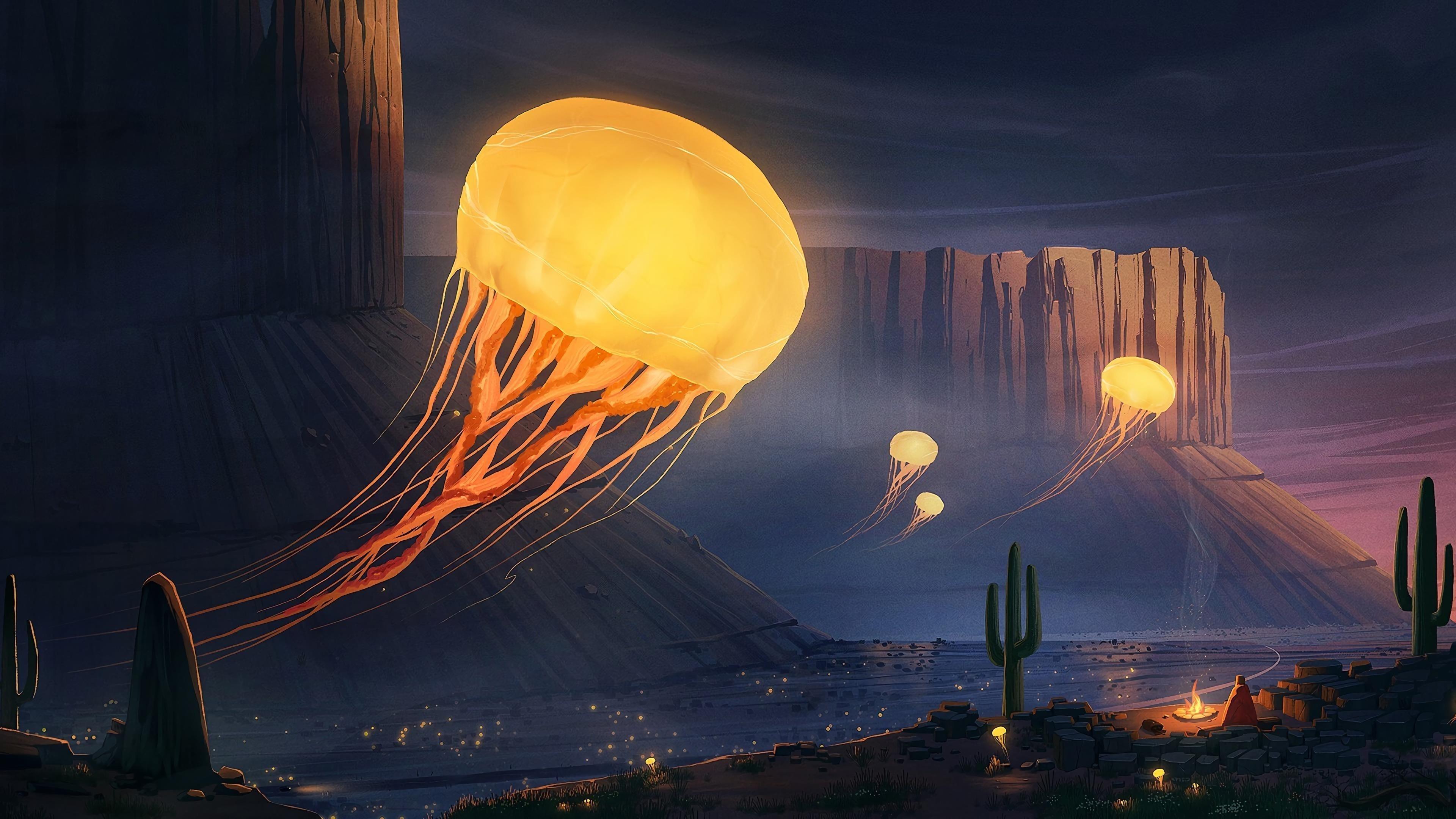 Фантазия о медузах обои скачать