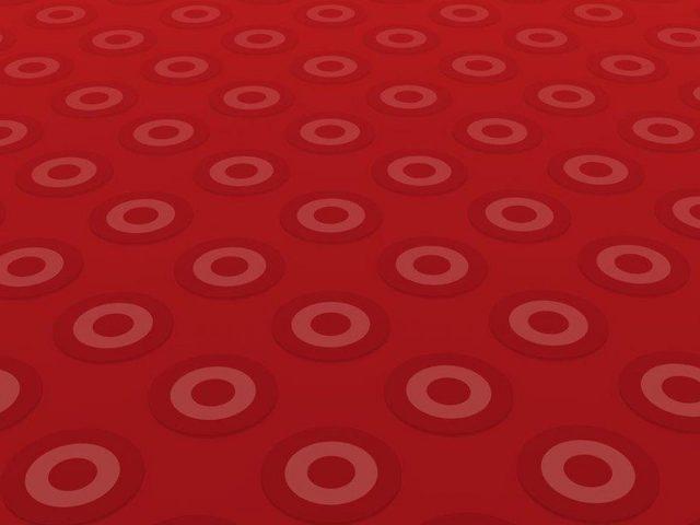 Розовые и красные круги с красным фоном абстракция