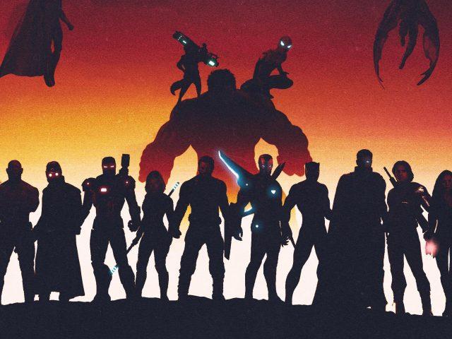 Мстители Марвел супергерои