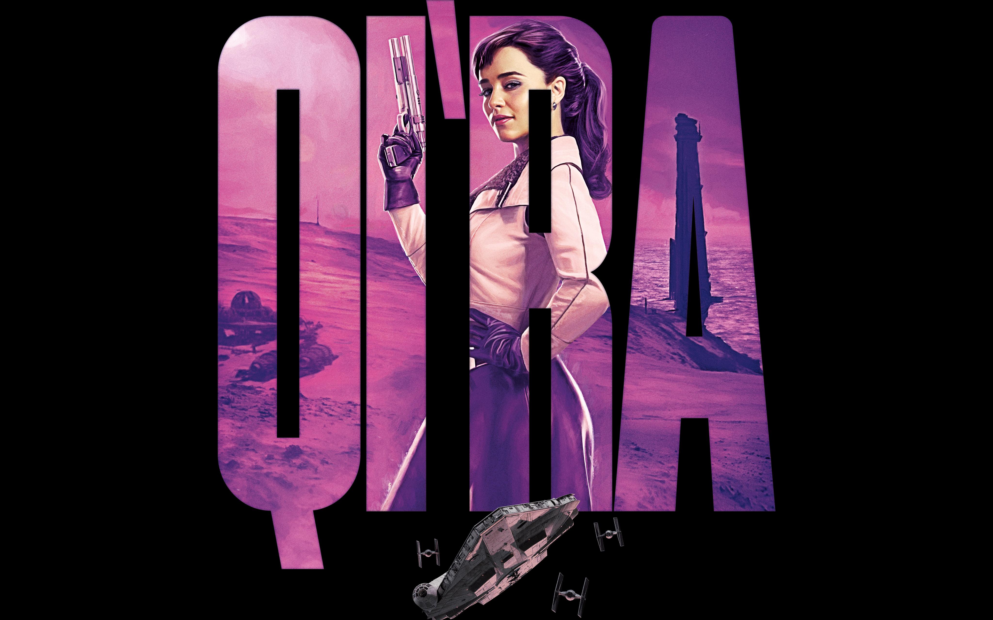 Эмилия Кларк как Кира соло Звездные войны история обои скачать