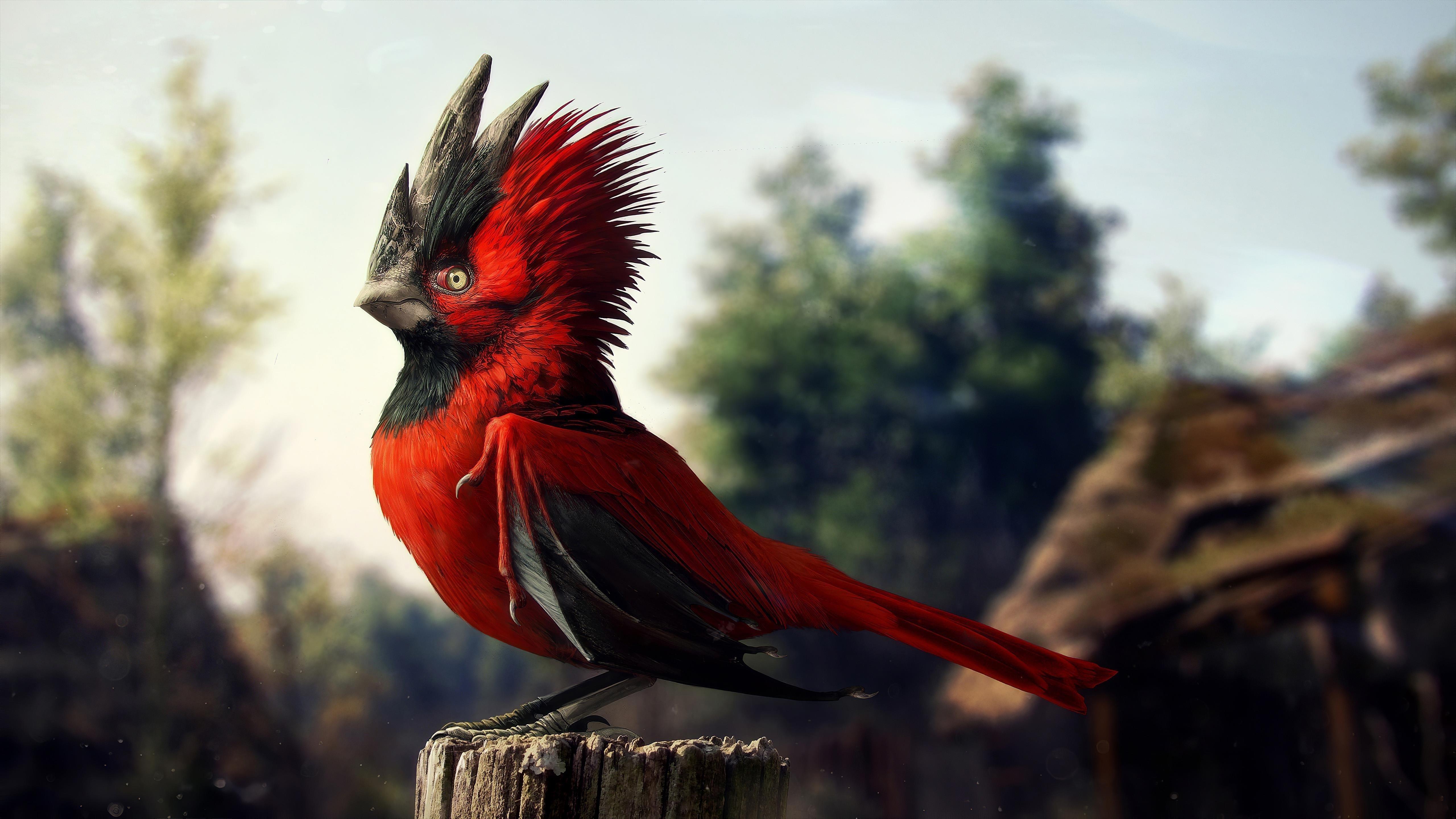 CGI птица обои скачать