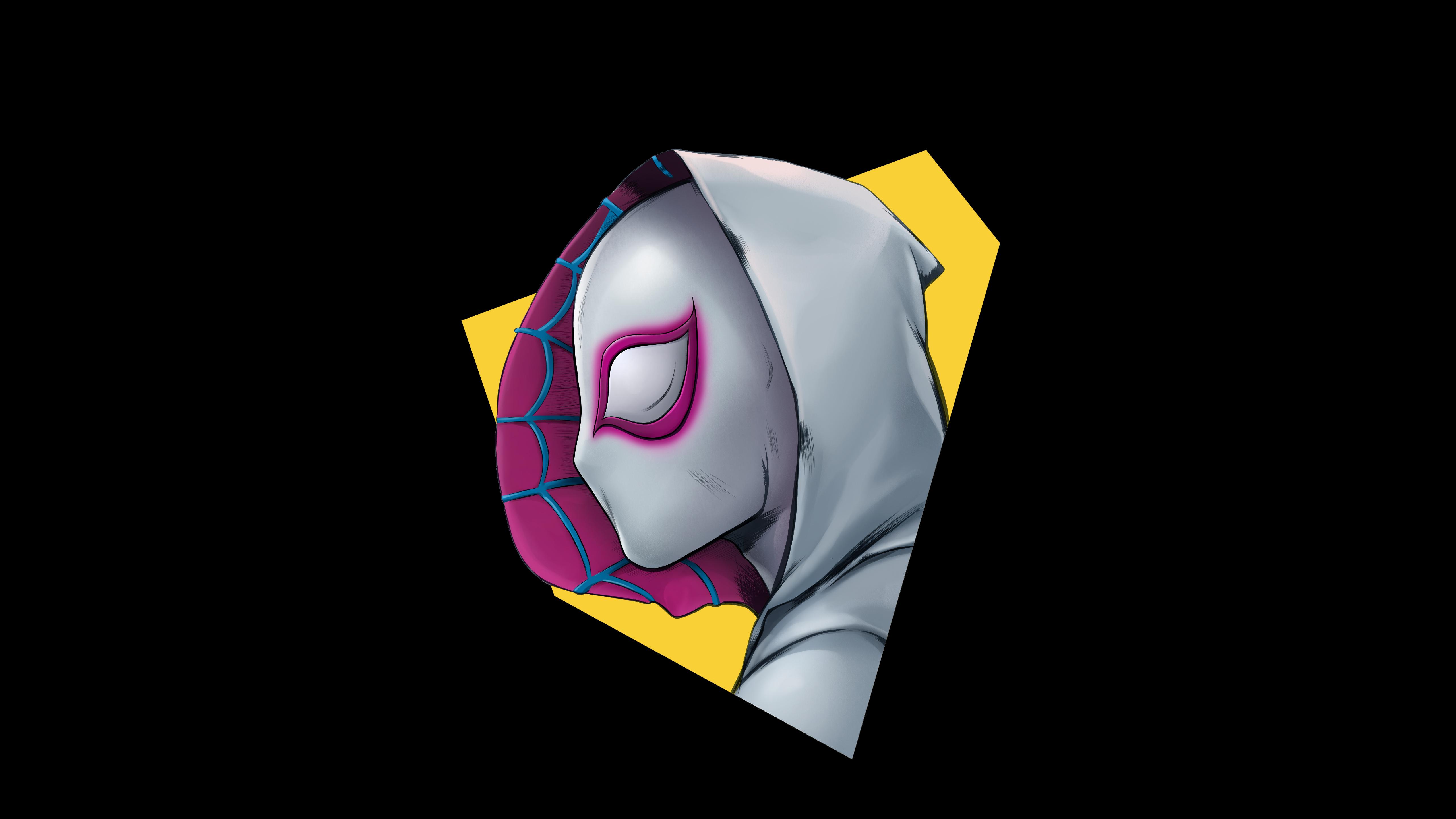 Spider-gwen минимальный обои скачать