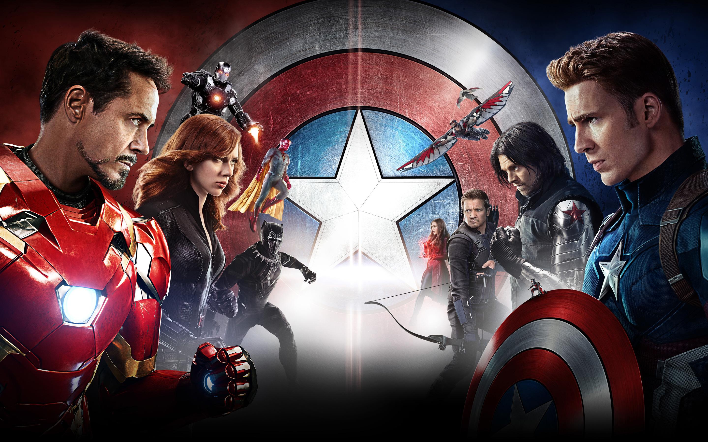Капитан Америка гражданская война в HD. обои скачать