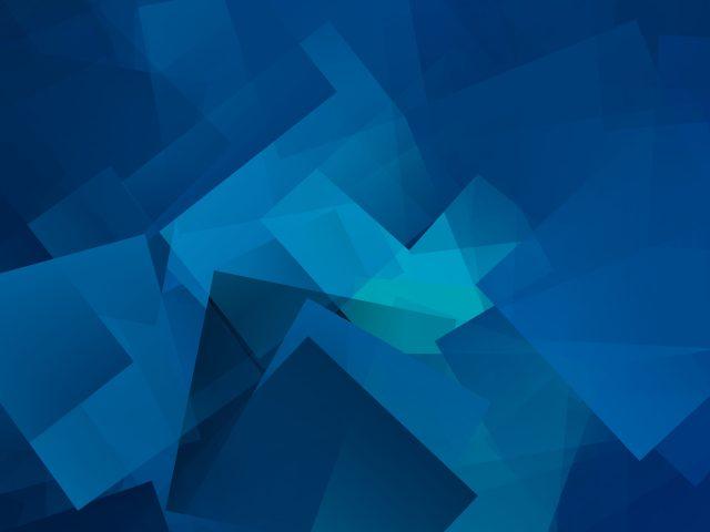Голубые геометрические Кубы
