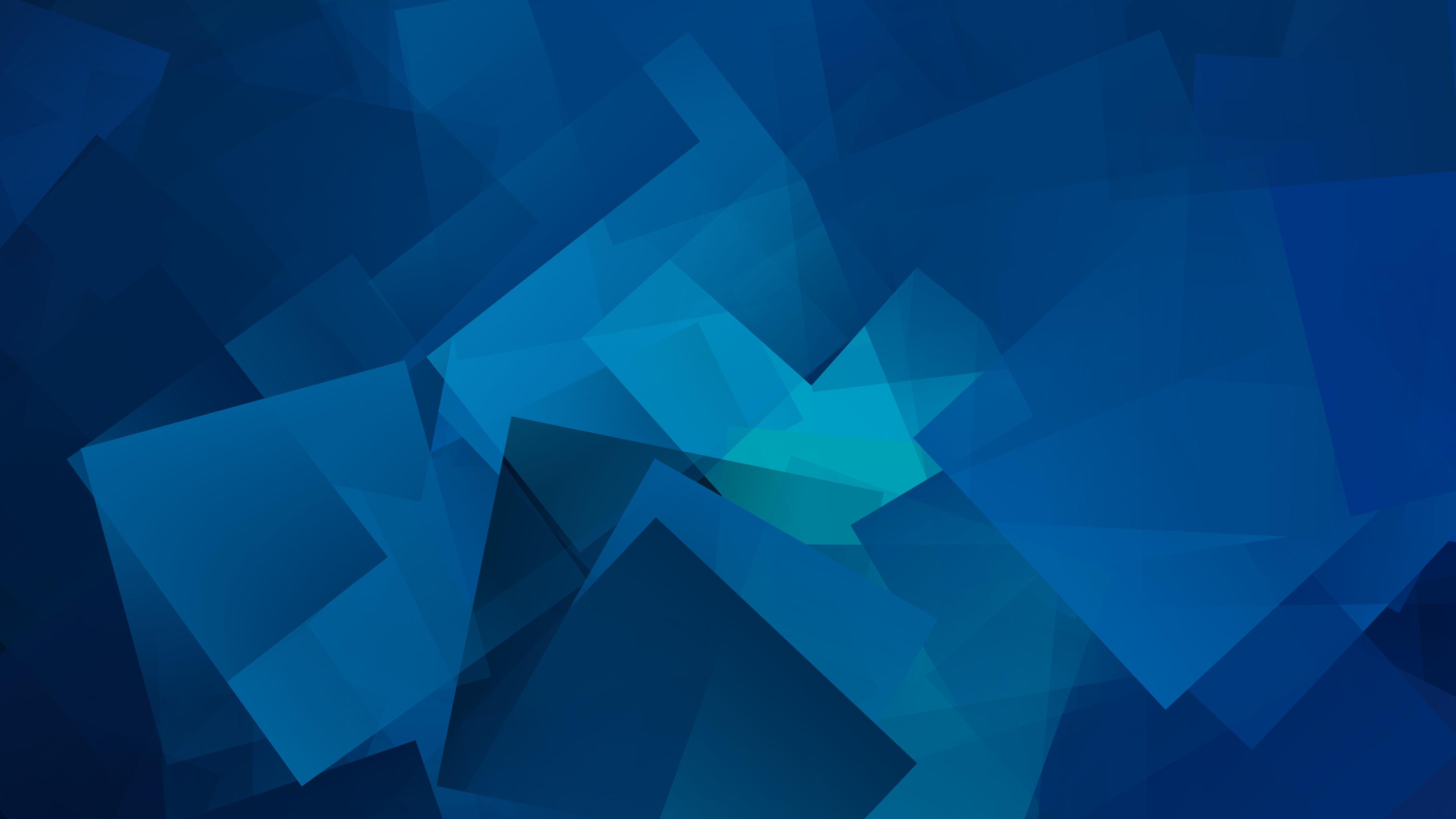 Голубые геометрические Кубы обои скачать
