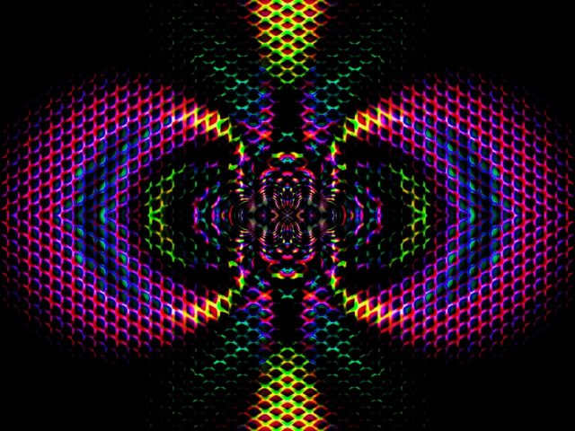 Красочная фрактальная сетка градиентная абстракция абстракция