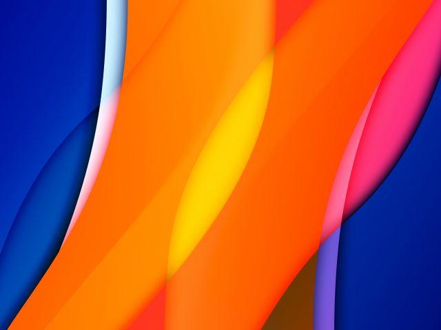 Оранжевые синие желтые линии абстракция абстракция