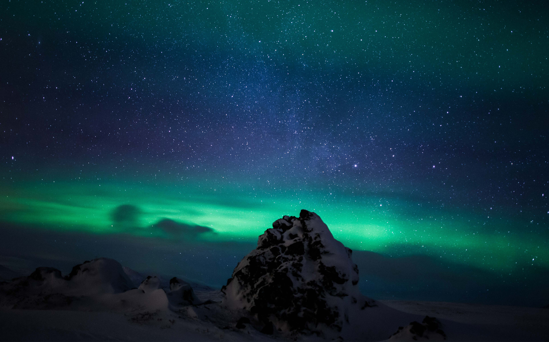 Северное Сияние Исландия Северное Сияние. обои скачать