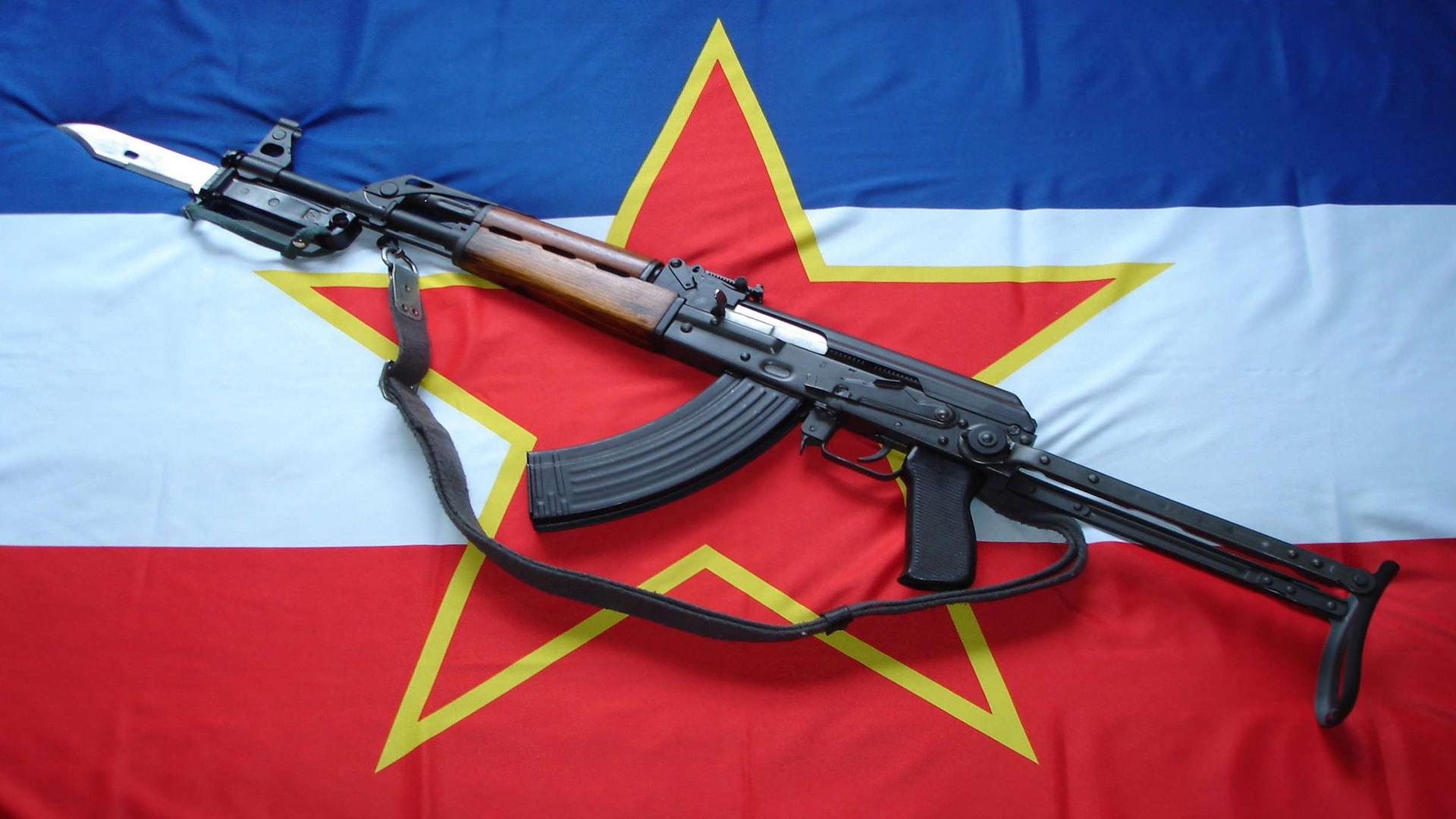 Флаг, Югославия, звезда, оружие обои скачать