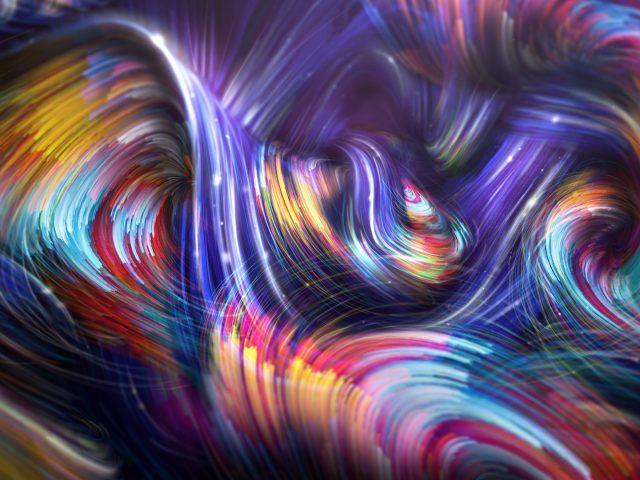 Красочные спиральные волны