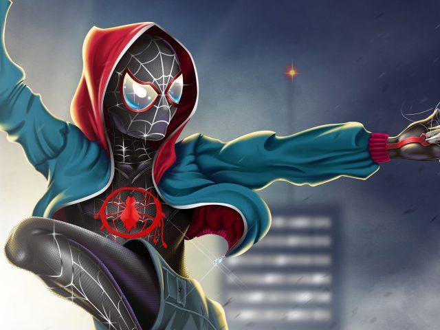 Человек-паук в произведение искусства паук-стих