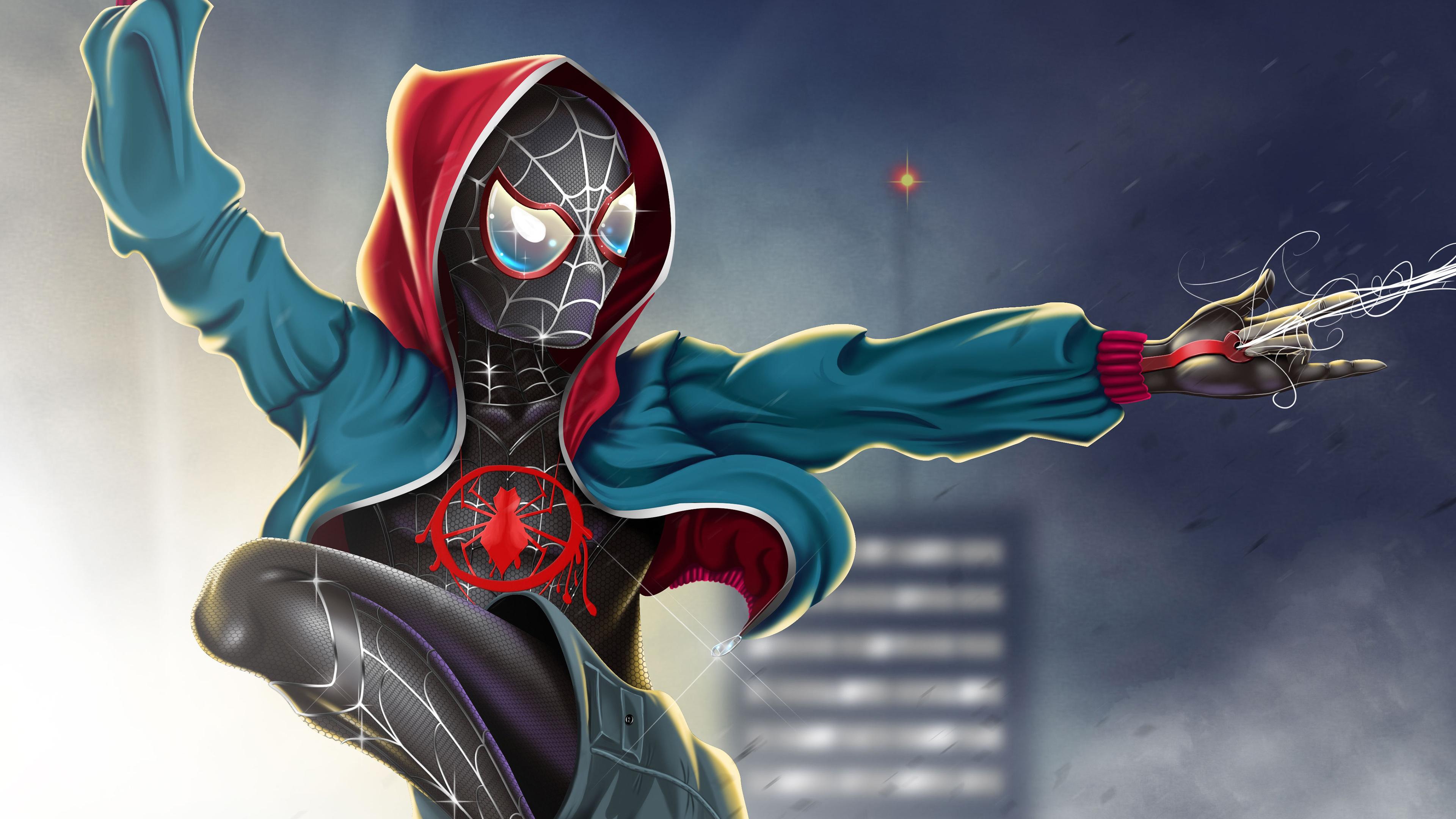 Человек-паук в произведение искусства паук-стих обои скачать