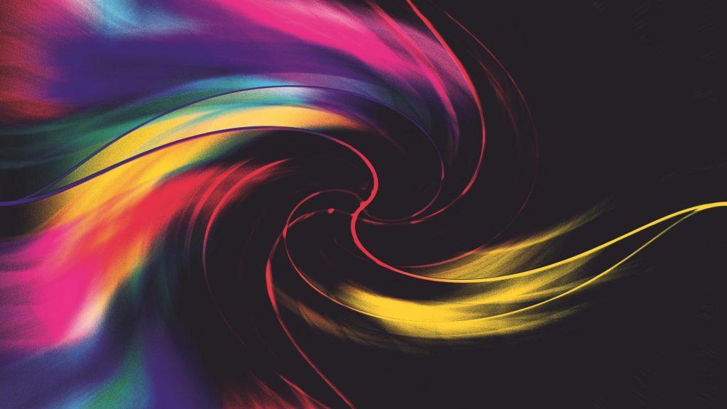 Красочное цифровое искусство вихревые формы абстракция абстракция обои скачать