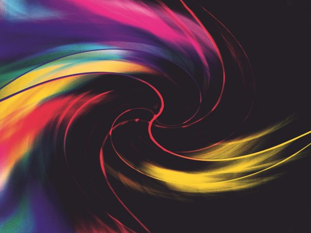 Красочное цифровое искусство вихревые формы абстракция абстракция
