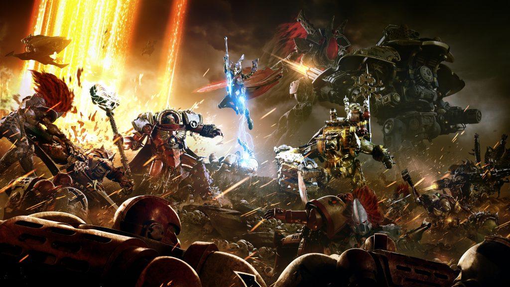 Warhammer 40k dawn of war iii 8k. обои скачать