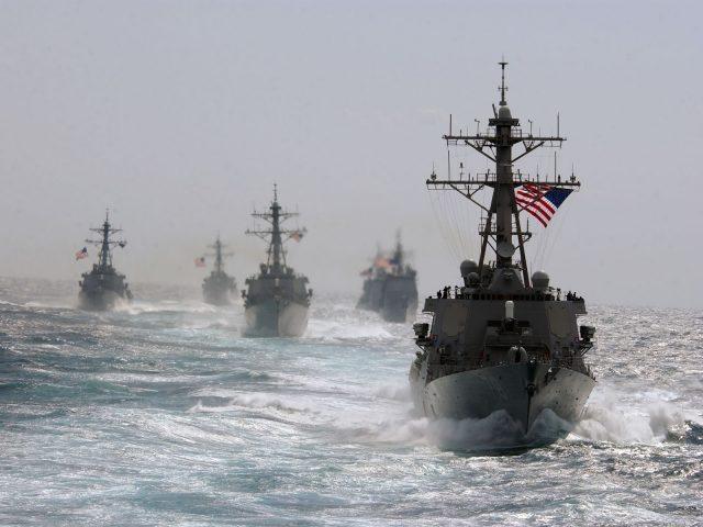 Военные,  Корабли,  США,  Море