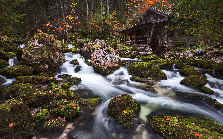 Поток камней водопад. обои скачать