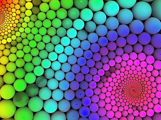 Красочные круглые шары абстрактные