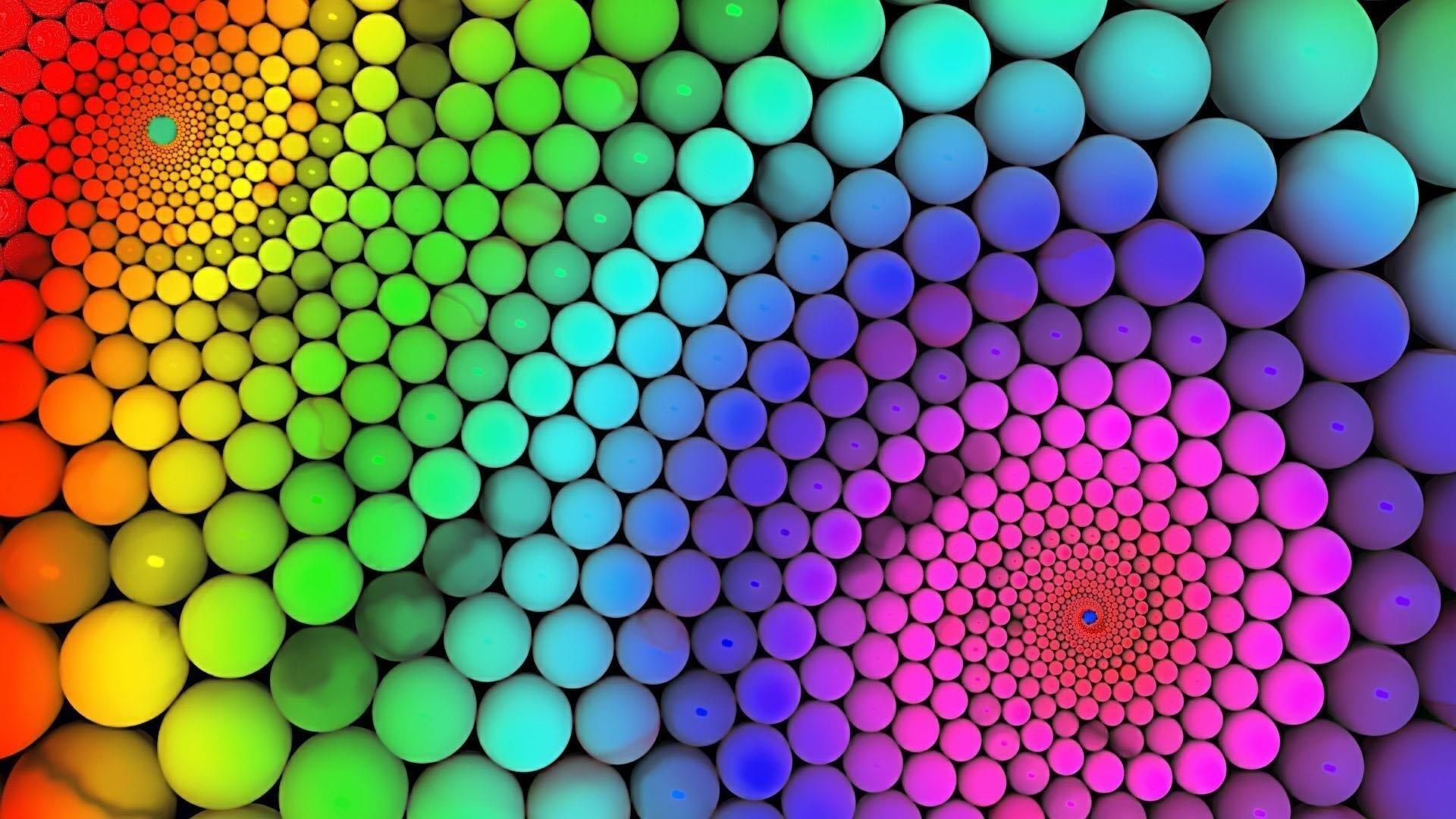 Красочные круглые шары абстрактные обои скачать