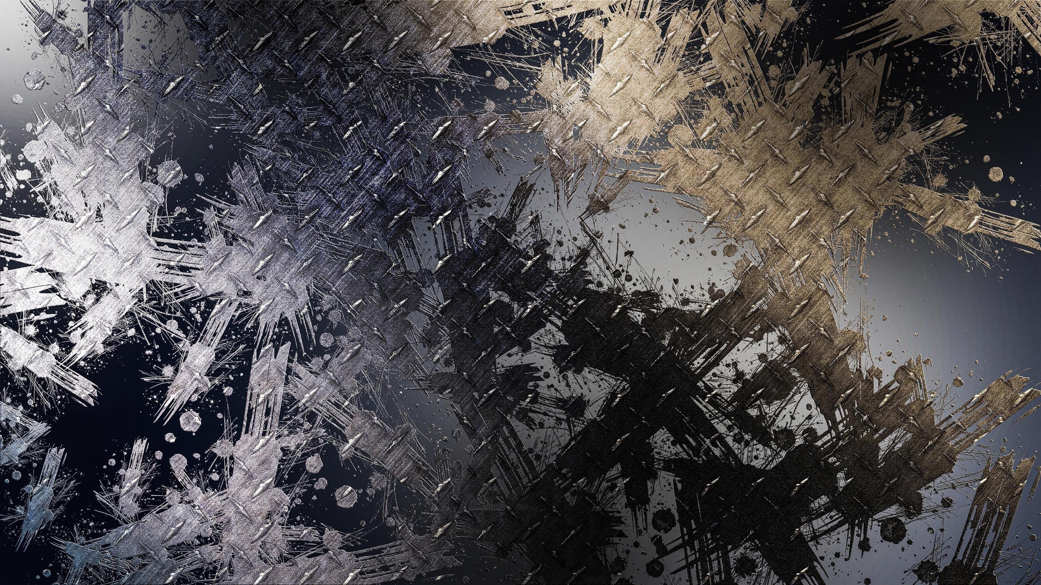Золотой серый всплеск пыли абстрактный обои скачать