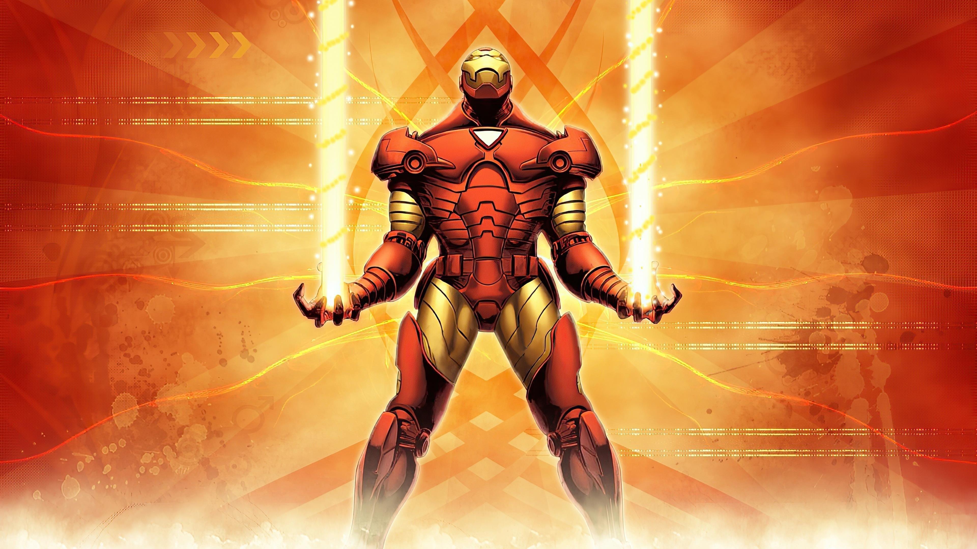 Железный человек 2020 арт супергерои обои скачать