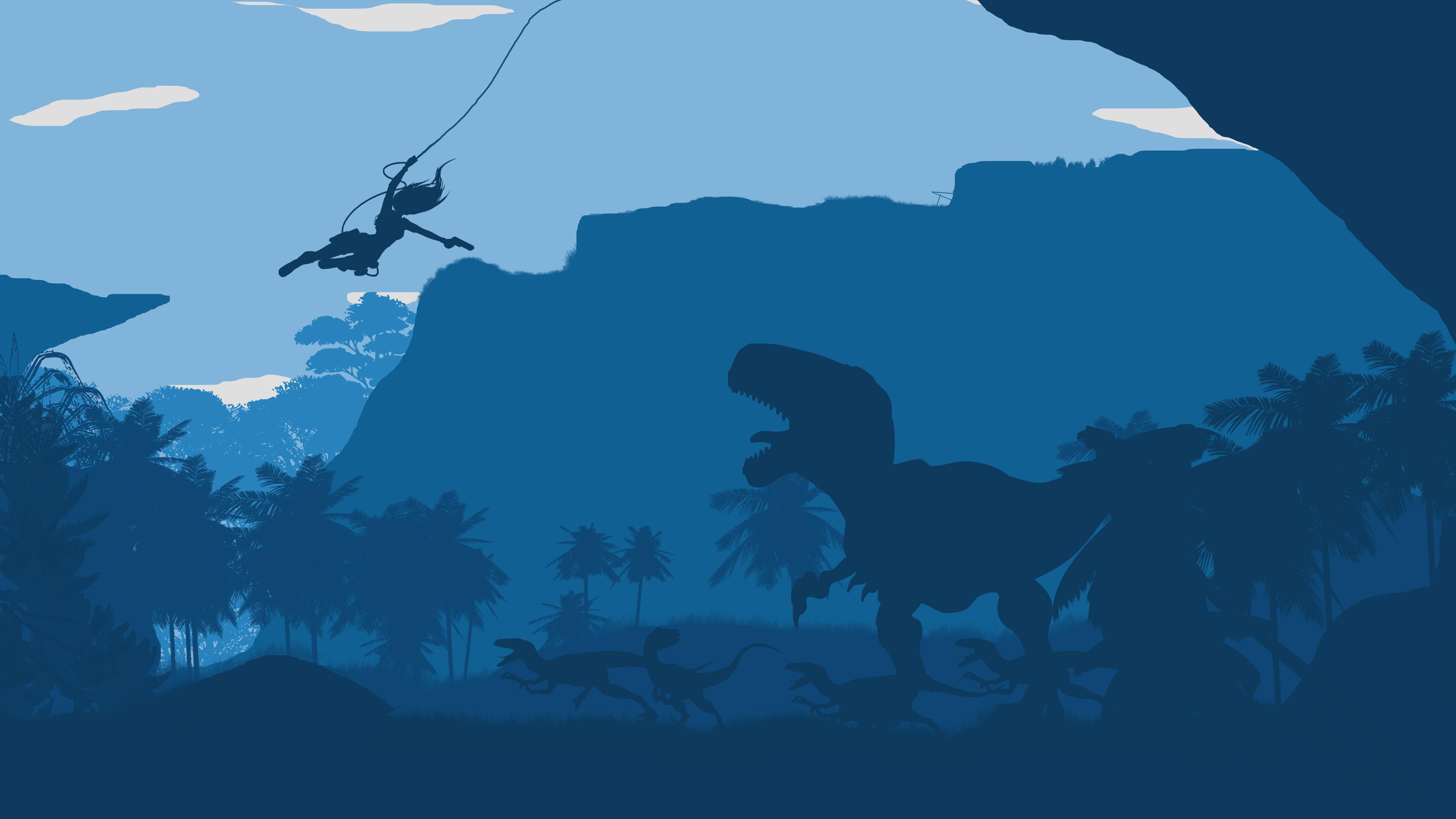 Расхитительница гробниц динозавр. обои скачать