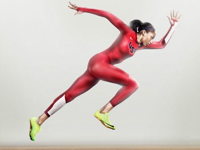 Найк бежит спортсмен женщин.