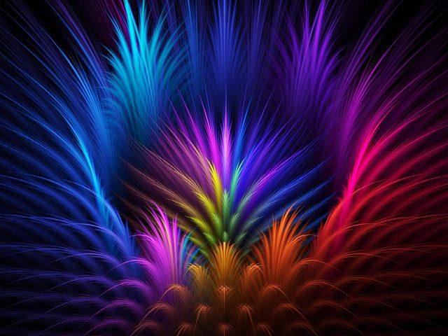 Красочное перо художественная абстракция