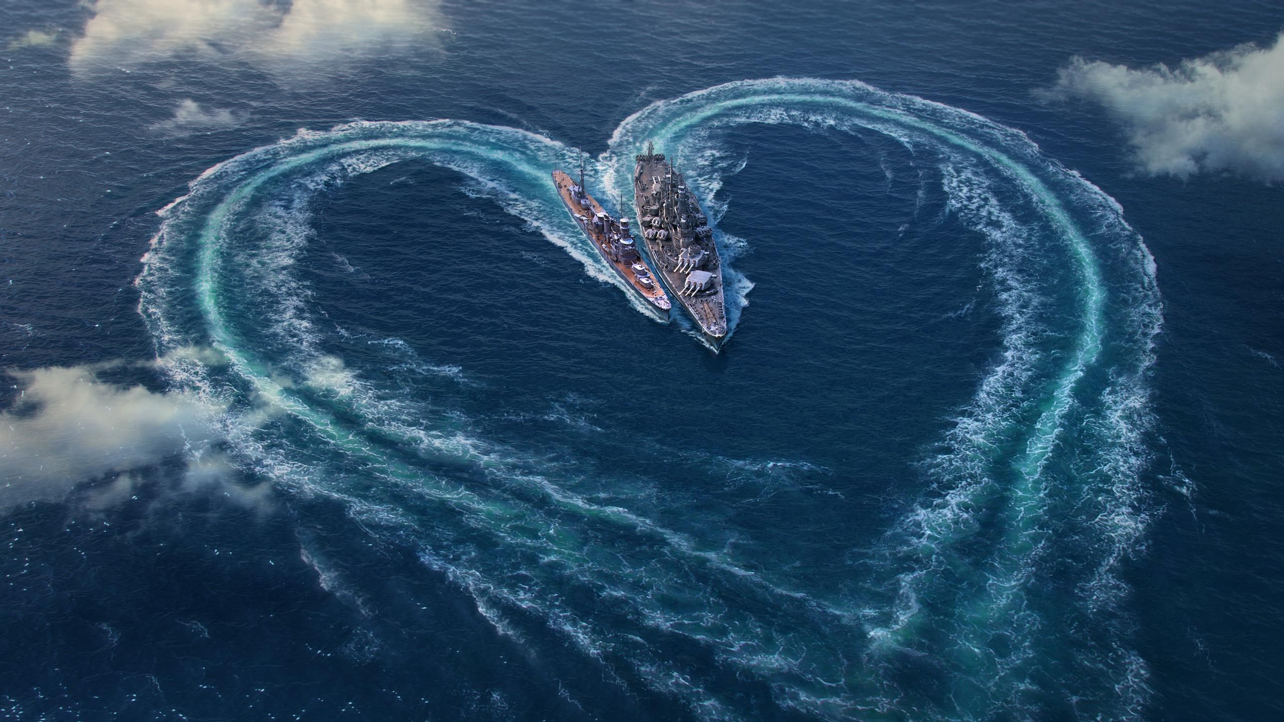 World of warships День Святого Валентина специальный обои скачать
