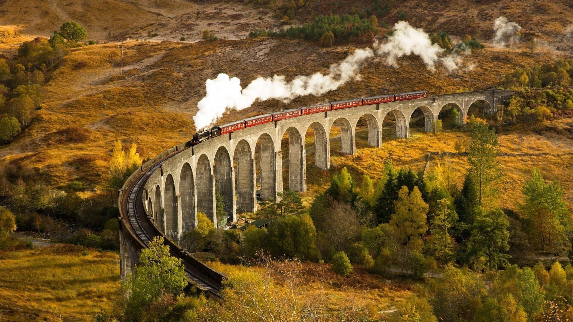 Транспортные средства поезд природа обои скачать