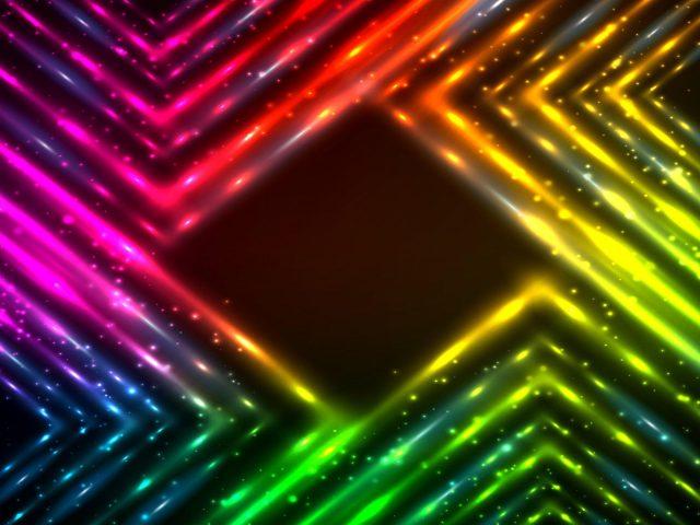Красочные неоновые огни в рамке абстракция абстракция