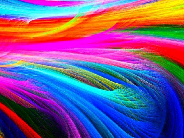 Красочные фрактальные фигуры абстрактные