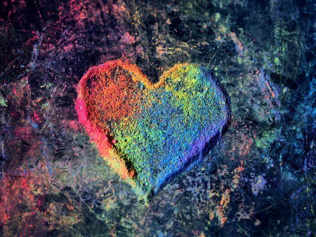 Красочные Валентина любовь сердце