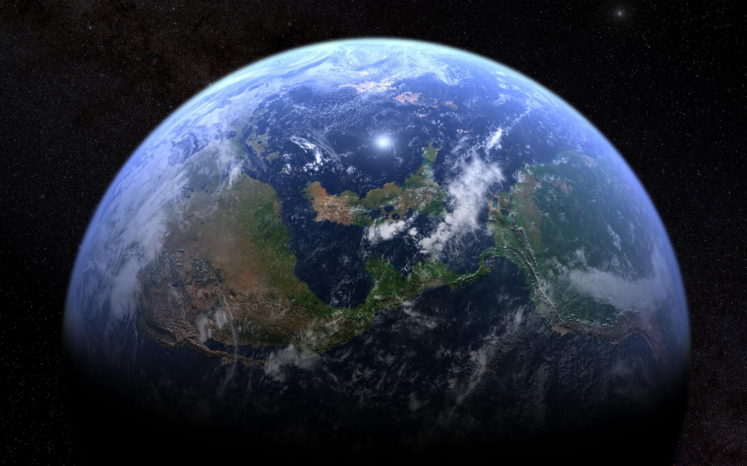 Планета Земля звезды. обои скачать