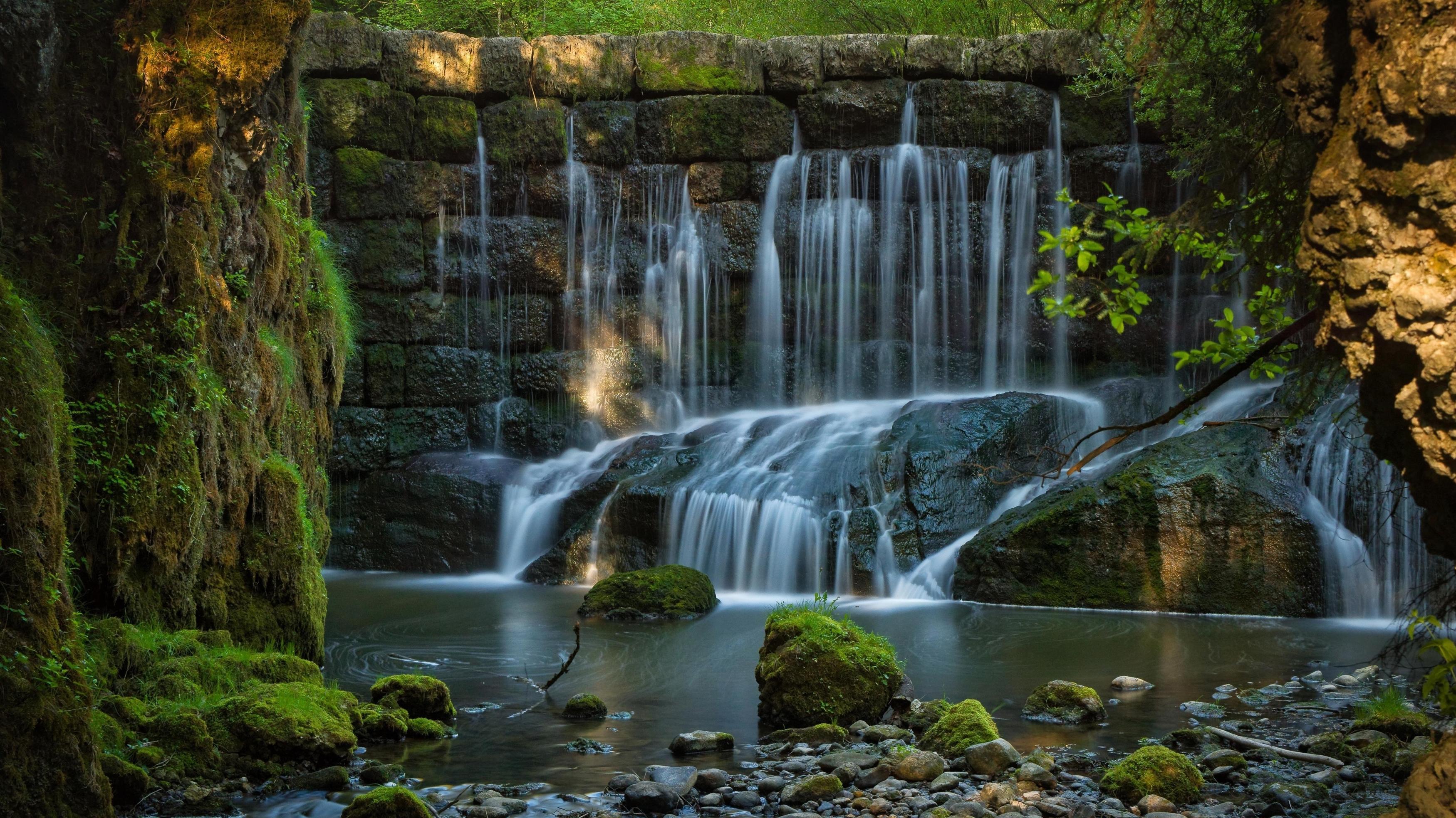 Земляной водопад обои скачать
