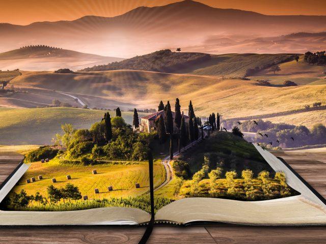 Пейзаж книга.