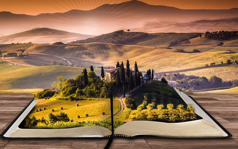 Пейзаж книга. обои скачать