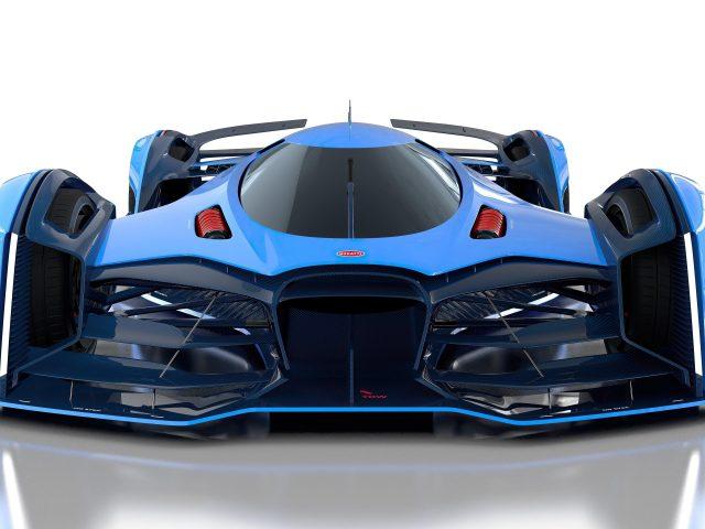Синие автомобили bugatti vision le mans