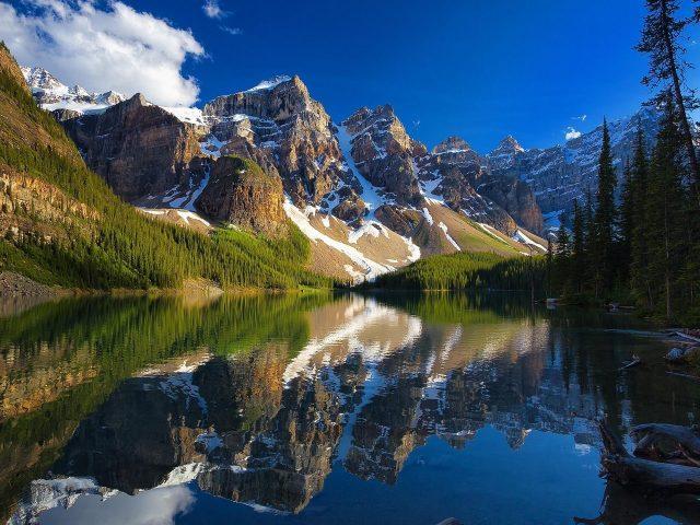 Альберта Банф национальный парк Канада мореное озеро гора отражение природы