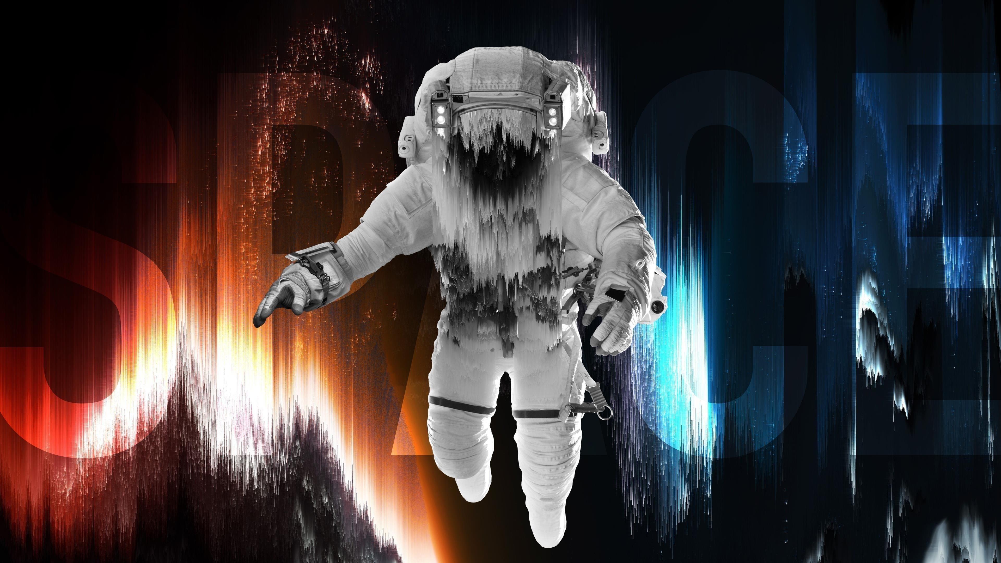 Astronaut in space обои скачать