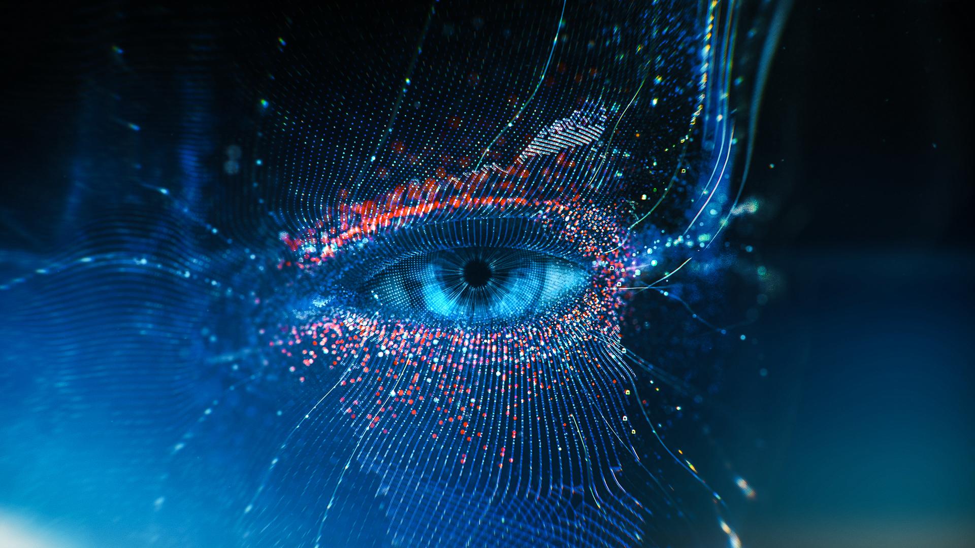Цифровые глаза обои скачать