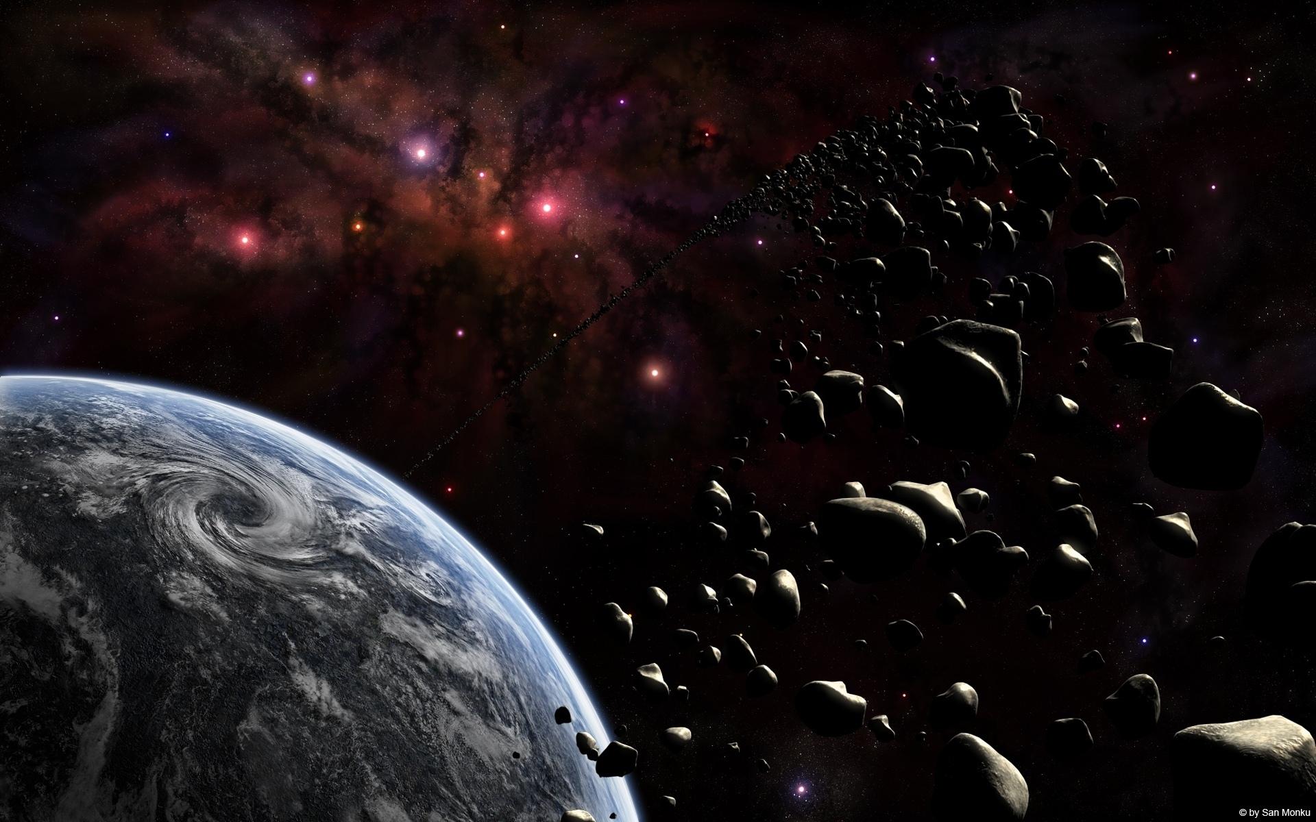 Планета, астероиды обои скачать