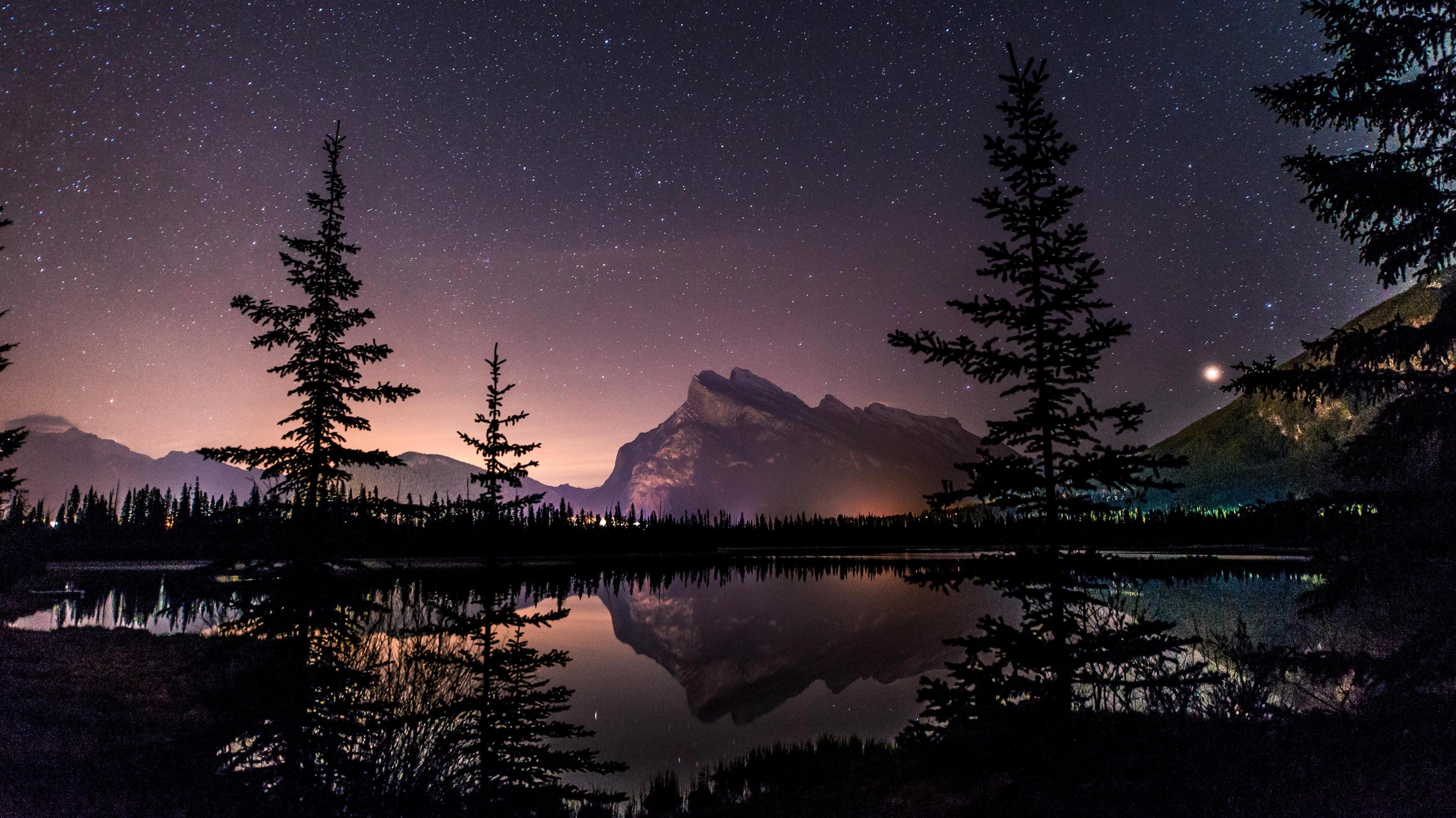 Звездный пейзаж обои скачать