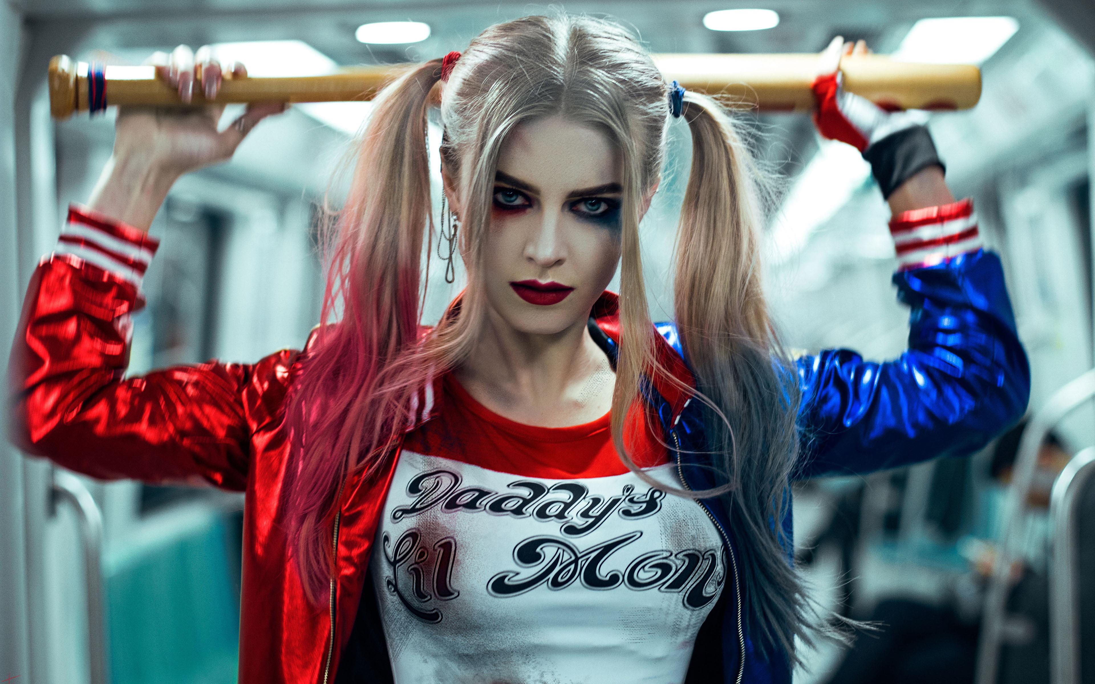 Harley quinn cosplay. обои скачать