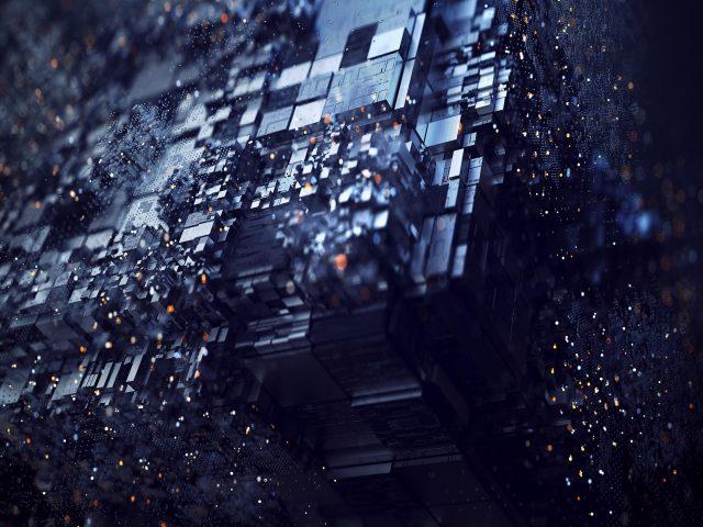 3D цифровое искусство формы абстрактного