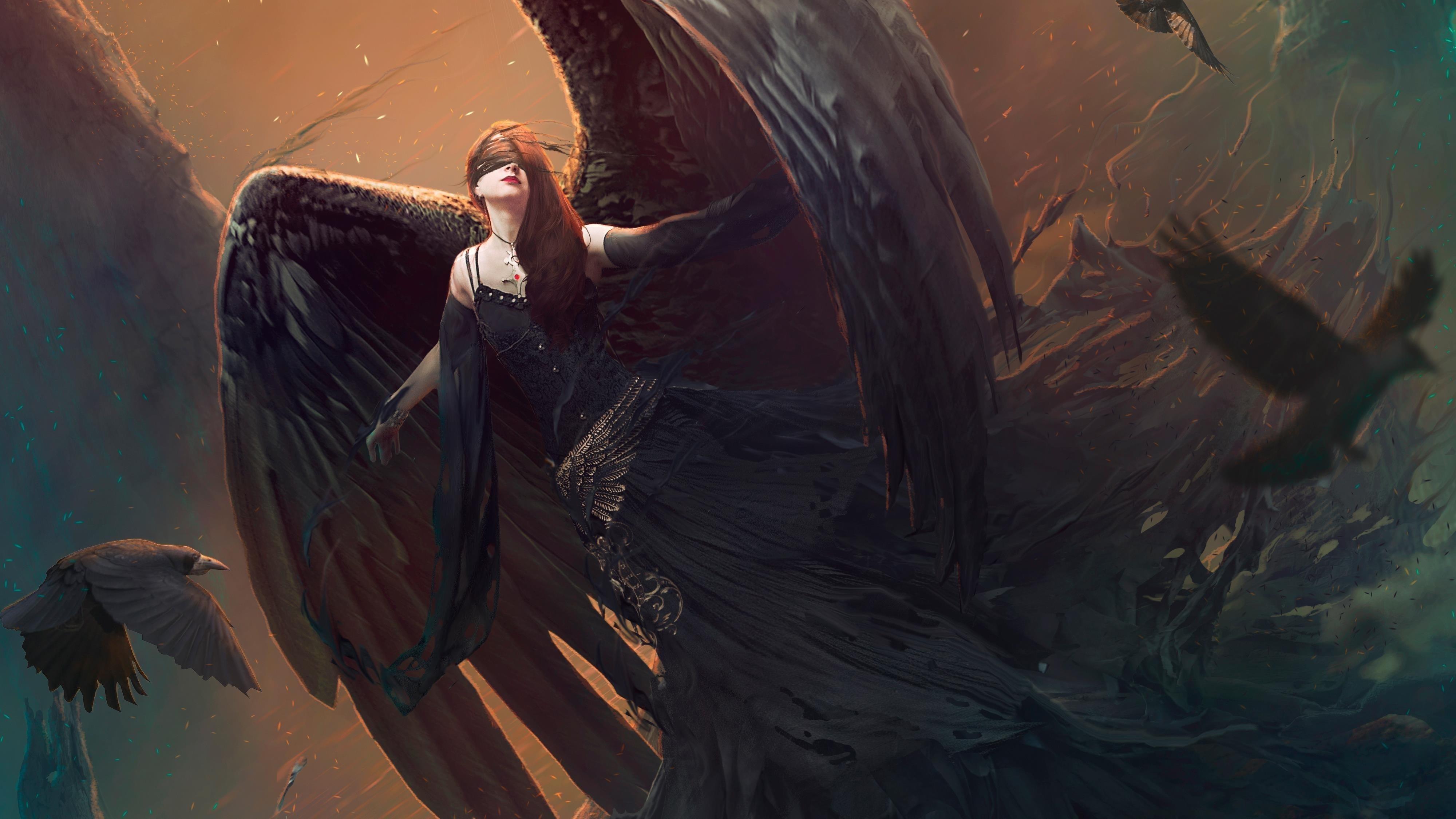 Темный ангел обои скачать