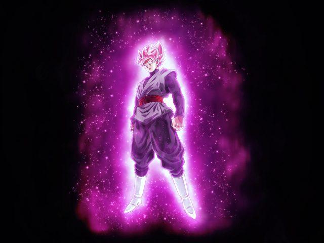 Супер Саян розовое черное гоку дракон мяч супер