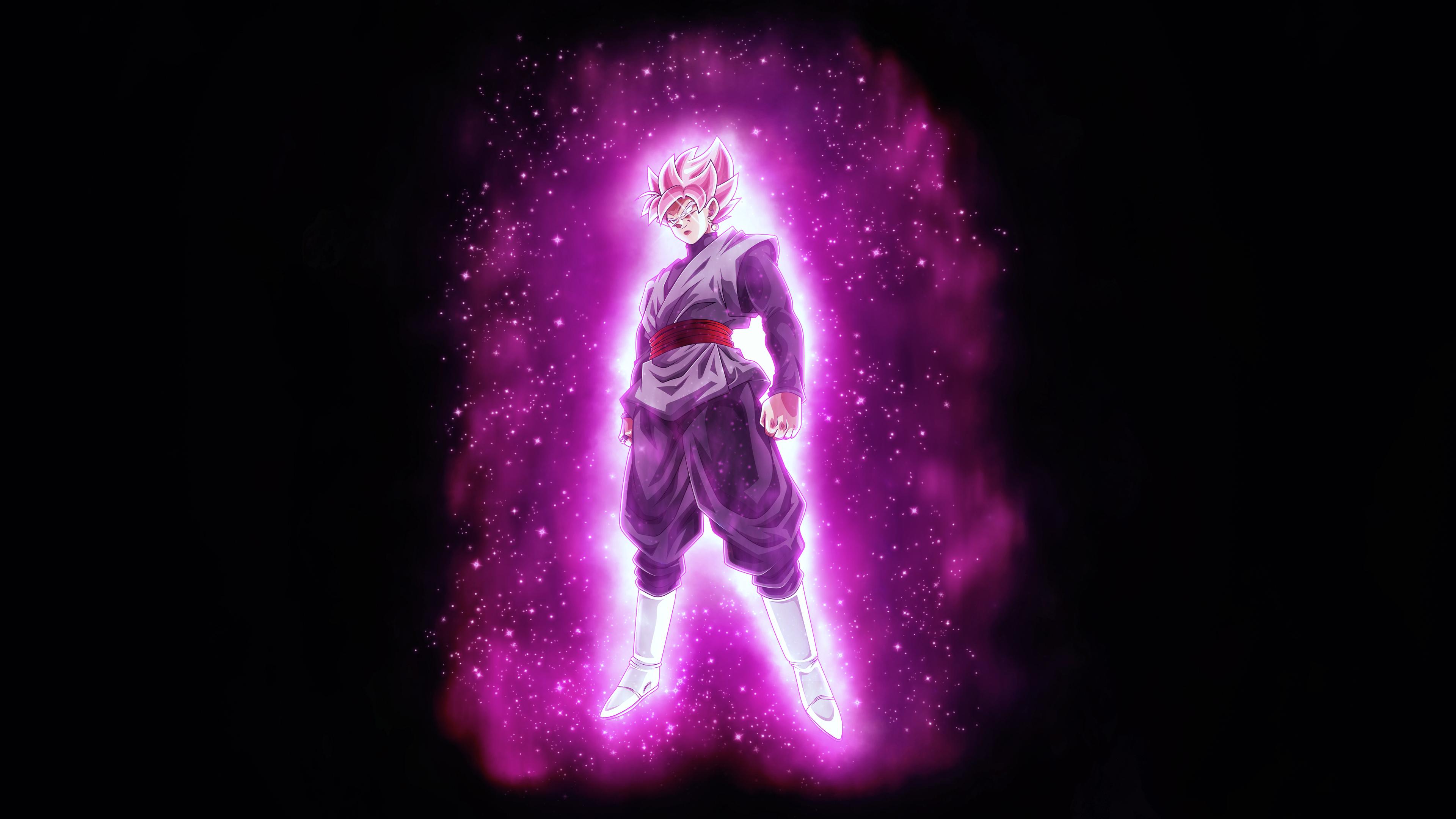 Супер Саян розовое черное гоку дракон мяч супер обои скачать