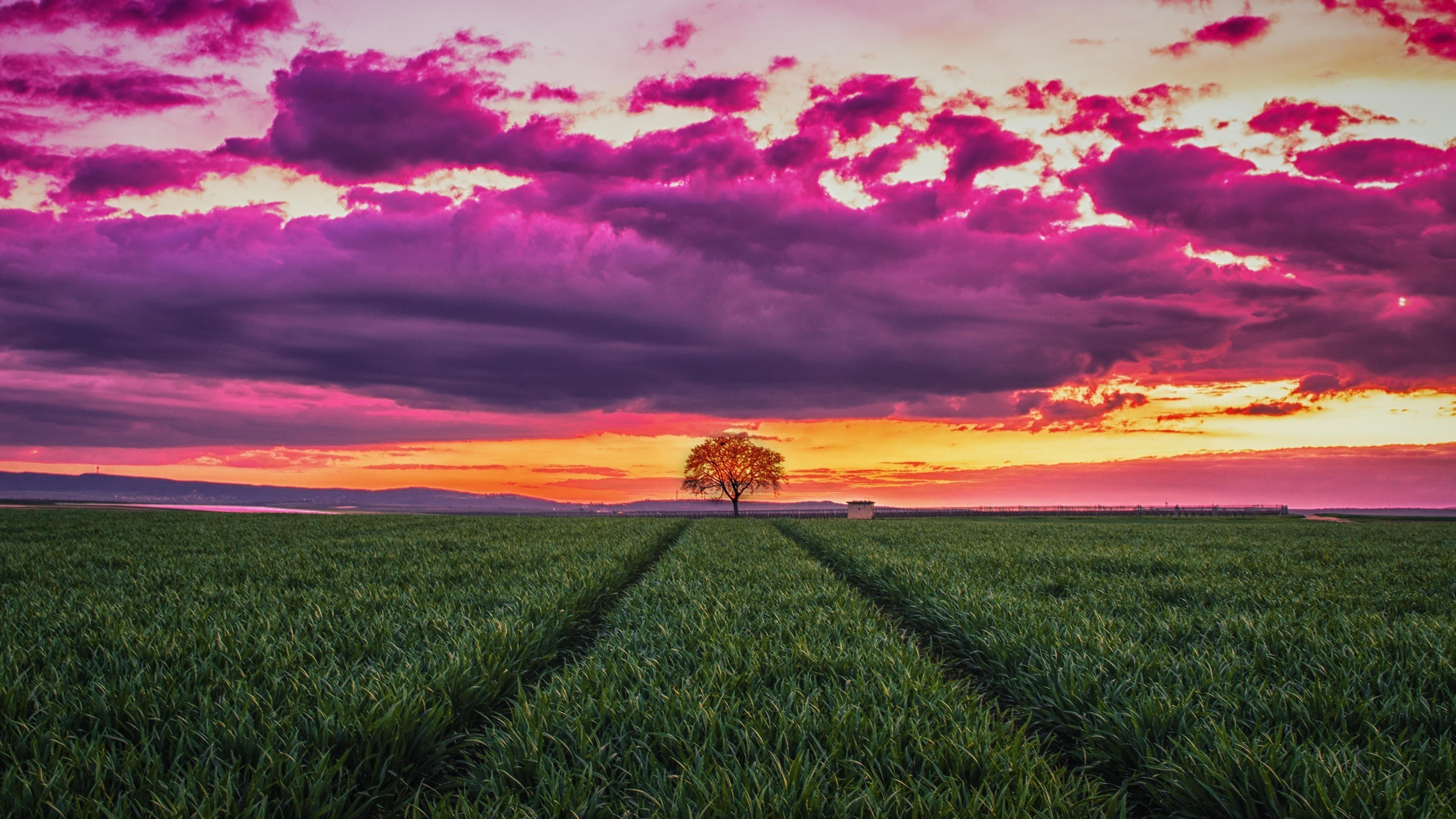 Закат пейзаж горизонт обои скачать