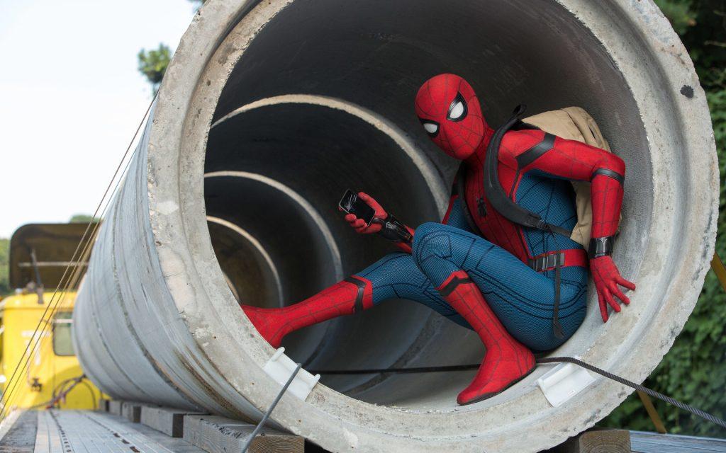 Spider man movie homecoming. обои скачать